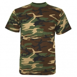 T-shirt Camouflage - Woodland - Fostee