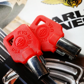 RED Key for Harley-Davidson - set of 2 red HD keys!