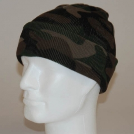 Watch Cap / Beanie - Commando Camouflage Woodland