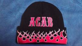 Knit Cap - ACAB - Flames