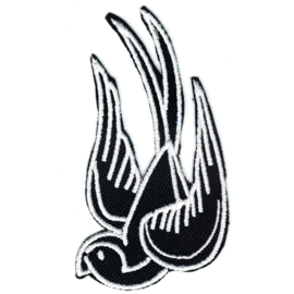 458 - Patch - Black and White Swallow (Left)