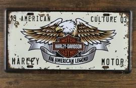 Licence plate - Harley-Davidson Vintage  - Car Plate