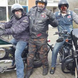 Protective Biker Pants - City Combat Pants - Dark Camouflage - Cut Resistant