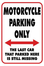 Motorcycle Parking Only - Large Sign