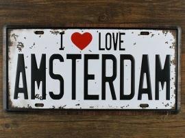 Funny Plate - I love Amsterdam