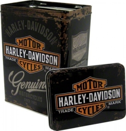 Harley-Davidson - Tin Storage Box - Black