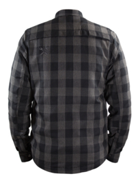 John DOE - MotoShirt LUMBERJACK SHIRT - GREY-BLACK
