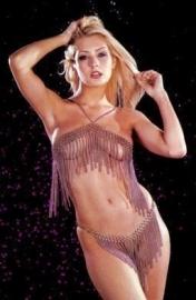 Metal Fringe Bikini - One Size