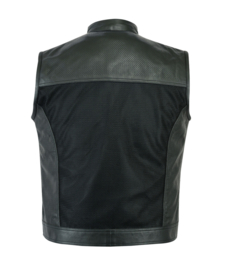 MC Vest - PERFORATED LEATHER - MESH - LightWeight
