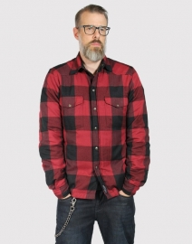 John DOE - MotoShirt LUMBERJACK SHIRT - RED-BLACK