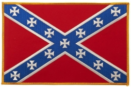 000 - BACKPATCH - Confederate flag with maltese crosses - Rebel flag