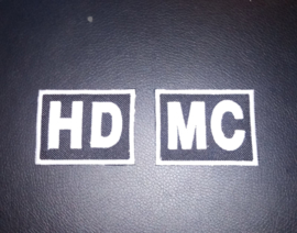 PATCH SET (of 2) - HD-MC / HDMC - Black & White