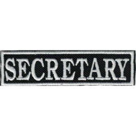 PATCH - SECRETARY - Stick - 95mm WHITE