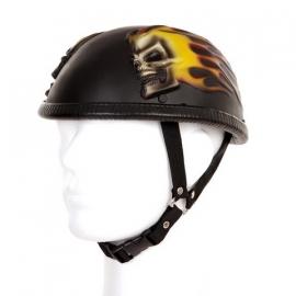 Braincap Helmet, 3D - Flames & Skull