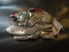 B132 - Belt Buckle - Wings of Death