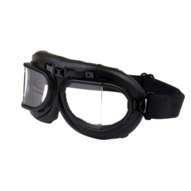 Goggles - RAF / Red Baron style - Classic  BLACK
