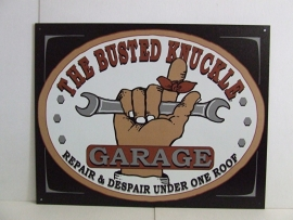Large Metal Plate - Busted Knuckle Garage