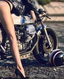 Moto Guzzi Decals - oval RED - 13cm wide