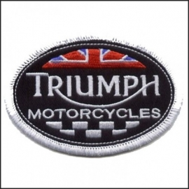 075 - Patch - Triumph Oval - British Racing
