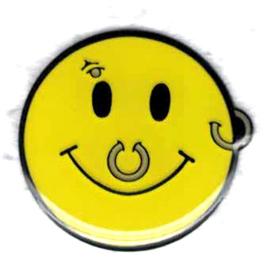 PIN - Smiley with Piercings - Pierced Emoticon