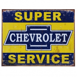Metal Plate - Chevrolet - SERVICE - Chevy