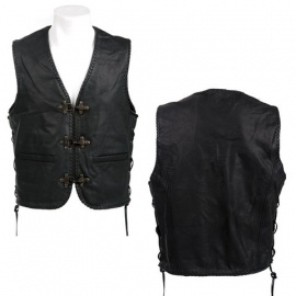 Leather Vest - X-treme Biker - Fostex