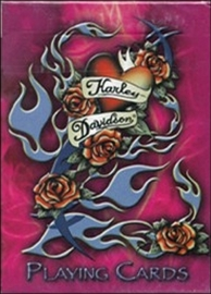 Harley-Davidson Playing Cards Pink Tattoo