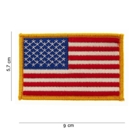 PATCH with golden border  - American Flag - Stars and stripes - America - USA