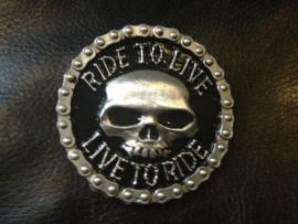 B110 - Belt Buckle - Ride to Live