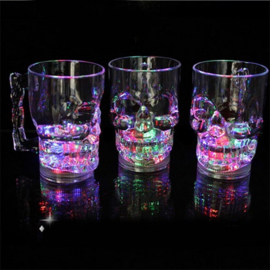 LED - Large Skull Mug - Beker