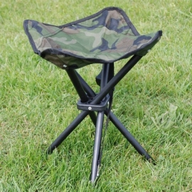 Stool - Collapsible 4 legs-stool - Camouflage