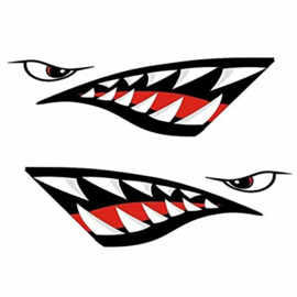 Fairing / Car Decals - set of 2 - Left & Right - Shark Teeth - War Bomber