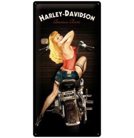 Harley-Davidson - Tin Sign - Biker Babe XL 50cm