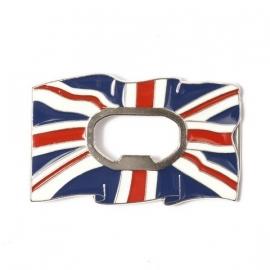 B112 - Belt Buckle UK flag with bottle opener