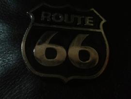 B142 - Belt Buckle - Route 66 Chrome