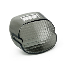 Harley-Davidson - Laydown Taillight Lens, SMOKE - TOP TAG WINDOW - 73-98/99