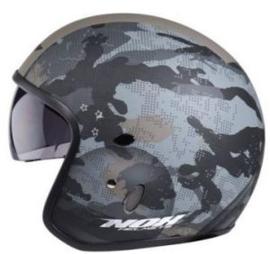 NOX - N237 - Combat Jet Helmet - Met ingebouwd zonnevizier