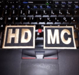 PATCH SET (of 2) - HD-MC / HDMC - GOLD / BRASS