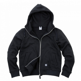Hoodie with zipper - Fostex - Black - HEAVY