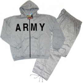 Trainingspak Track Joggingpak - ARMY GREY - GRIJS - LEGER