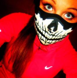 Face Mask - Half - Skull - Biker