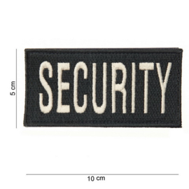 Patch - Security - with Velcro - White on Black