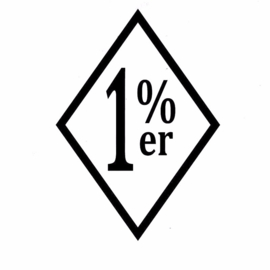 One Percenter Sticker - 1% er - DECAL LARGE - cut out