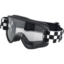 Goggles - Biltwell - Checkered MotoCross Style - MOTO 2.0