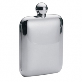 Round Square Flask - No Logo - 6 oz