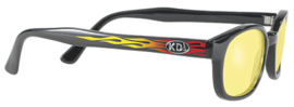Sunglasses - Classic KD's - FLAMES - Yellow