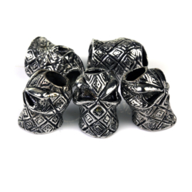 TRIBAL DICE SKULL SET of 5 - for Paracord and other