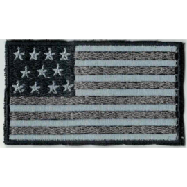 GREY PATCH - American flag - Stars and stripes - USA [small]