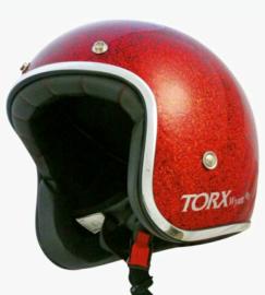 Red Metal Flake - Jet Helmet - ECE 22.05