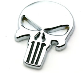 The Punisher - METAL DECAL /  STICKER - Chrome